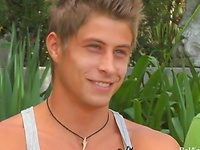 Jack Harrer, Alex Waters and Austin Merrick goes threesome outdoors