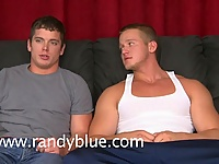 Dallas Evans gives brand new hottie Collin Thomas a blowjob