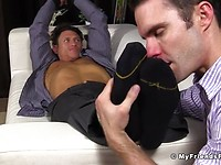 Bryce Evans Tied Up and Foot Worshiped - Bryce