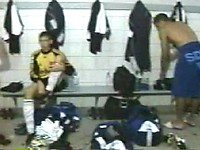 EricDeman catches a hot footballer in the locker room adjusting his towel just before being interviewed and inadvertently revealing his big wet cock.